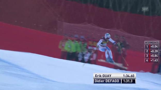 Video «Ski Alpin: Abfahrt Männer in Gröden, Fahrt von Défago («sportlive», 21.12.2013)» abspielen