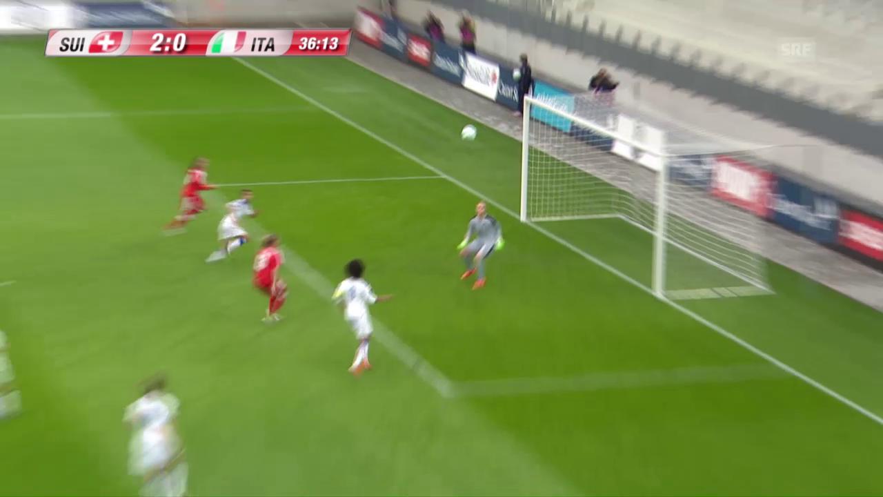 Terchoun erhöht auf 2:0 für die Schweiz