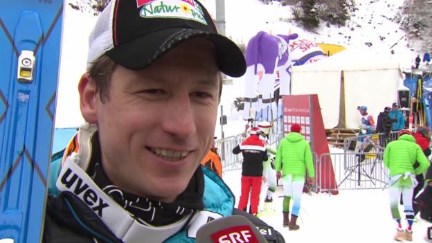 Video «Ski: Weltcup Wengen, Interview Hannes Reichelt» abspielen