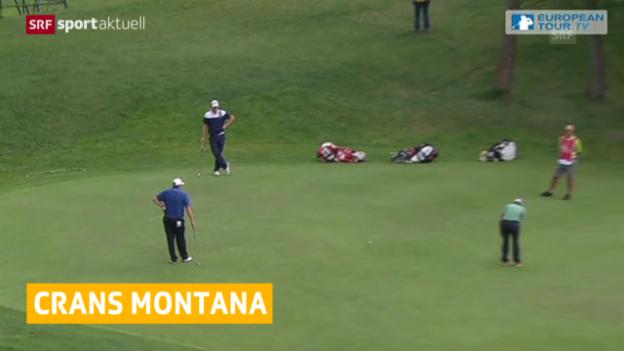 Video «Golf: Start zu den European Masters in Crans-Montana» abspielen