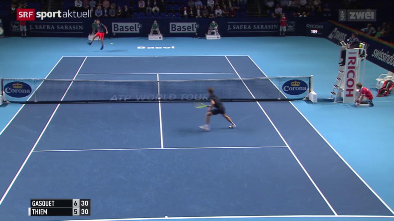 Tennis: Swiss Indoors, Gasquet - Thiem