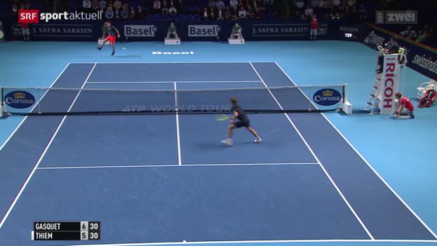 Video «Tennis: Swiss Indoors, Gasquet - Thiem» abspielen