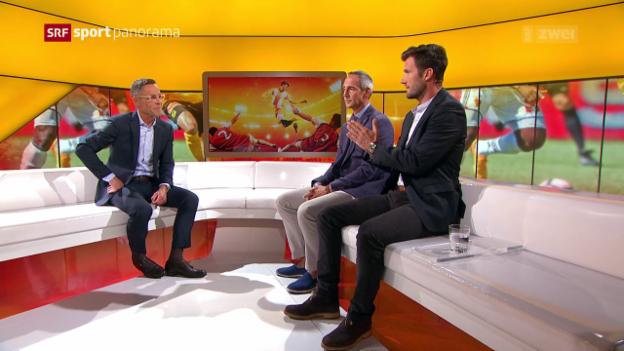 Video «Studiogäste Wicky und Hütter: 2. Gesprächsteil» abspielen