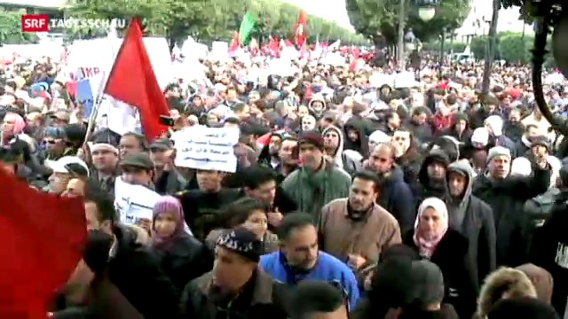 Ennahda-Anhänger demonstrieren