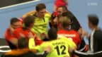 Video «Handball: Champions League, Elverum - Kadetten Schaffhausen» abspielen