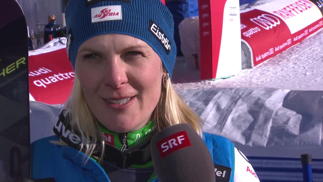 Ski alpin: WM 2015 in Vail/Beaver Creek, Super-Kombi Frauen, Interview mit Nicole Hosp