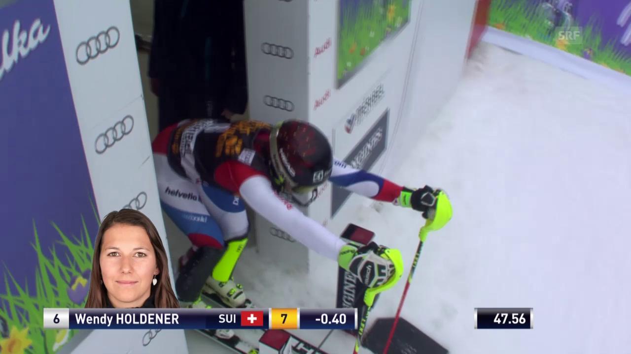 Ski: Slalom Frauen, Méribel, 2. Lauf Wendy Holdener