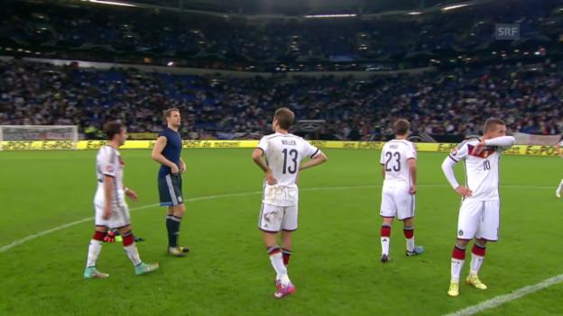 Video «Fussball: EM-Qualifikation, Gruppe D, Deutschland - Irland» abspielen