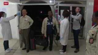 Video «Ebola-Verdacht: Air-France-Maschine unter Quarantäne » abspielen
