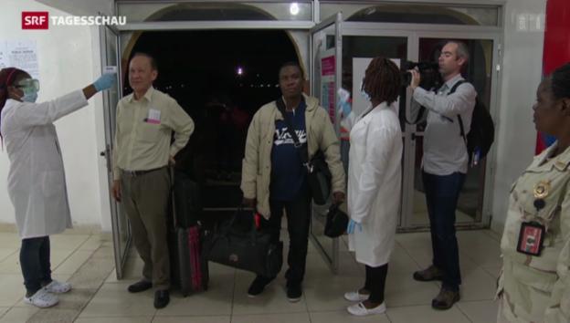 Video «Ebola-Verdacht: Air-France-Maschine unter Quarantäne» abspielen