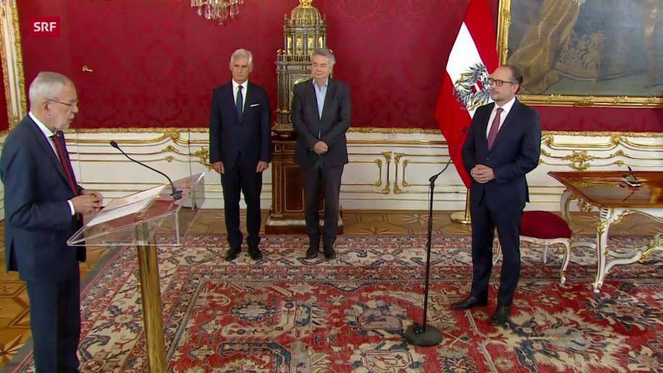 Neuer Bundeskanzler Österreichs wird vereidigt