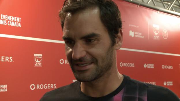 Video «Federer über seine Rückenprobleme nach dem Montreal-Final» abspielen