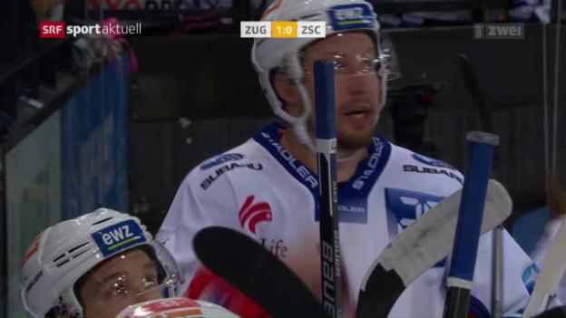 Video «Seger avanciert zum Rekord-NLA-Spieler bei Niederlage in Zug» abspielen