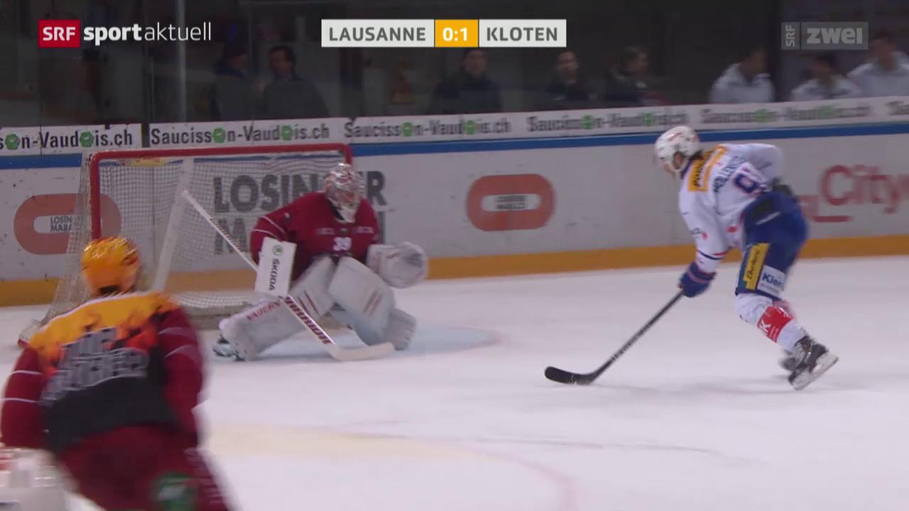 Eishockey, NLA: Lausanne - Kloten Flyers