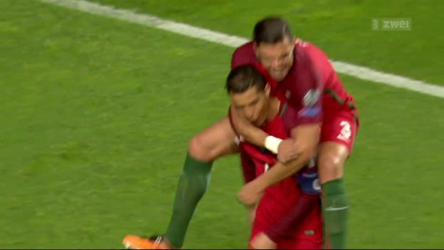 Video «Ronaldo trifft doppelt, Portugal schlägt Ungarn» abspielen
