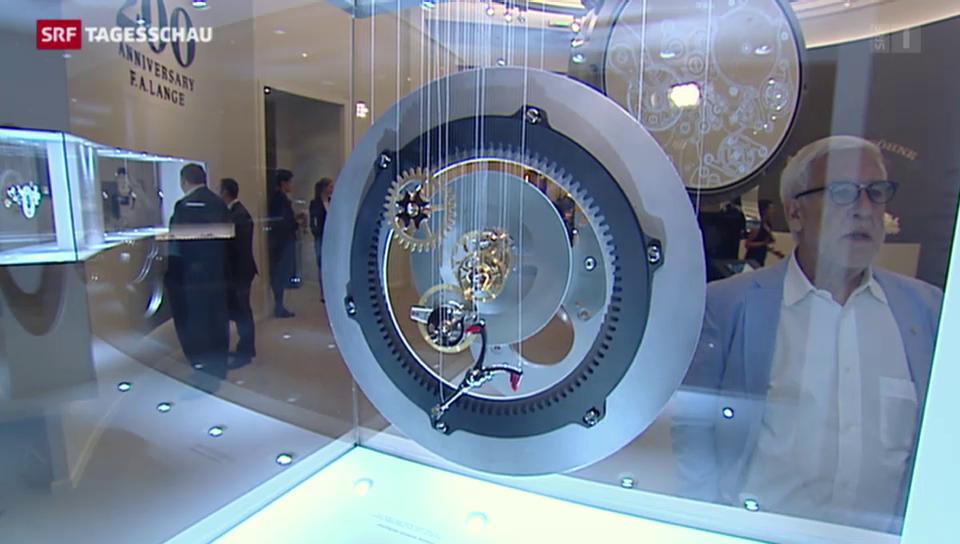 Gelassene Uhrenverkäufer in Genf