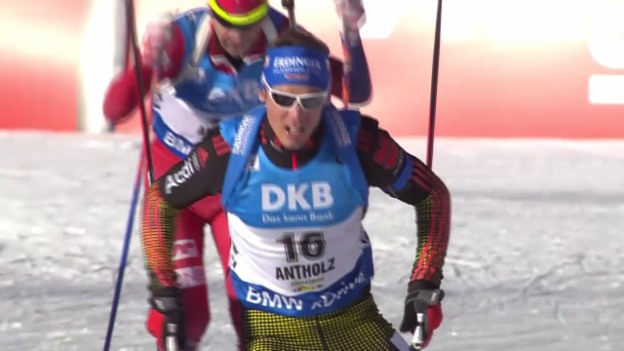 Video «Biathlet Simon Schempp siegt in Antholz» abspielen