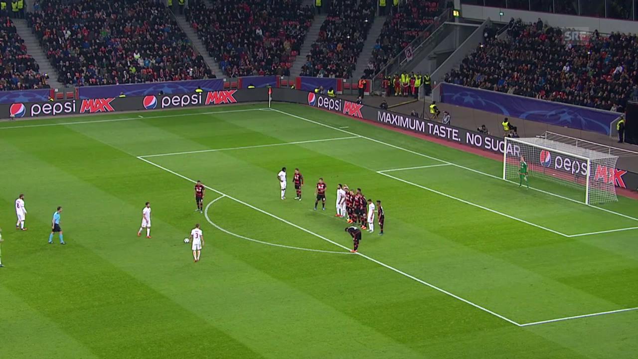 Fussball: CL, Tor Pjanic Leverkusen - Roma