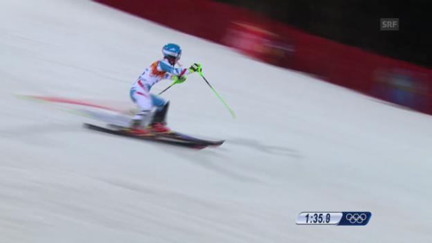 Video «Ski: 2. Lauf Kathrin Zettel (sotschi direkt, 21.02.2014)» abspielen