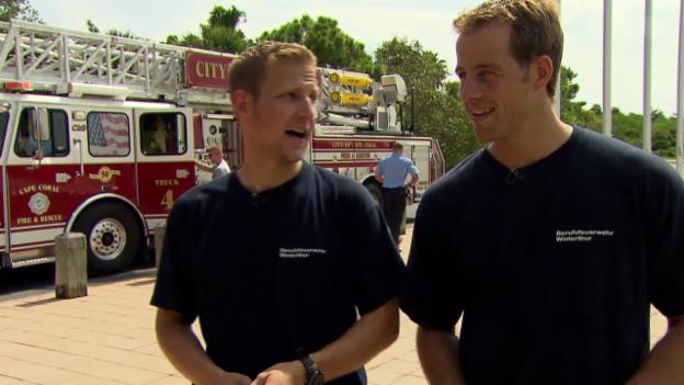 Video «USA - Feuerwehrleute» abspielen