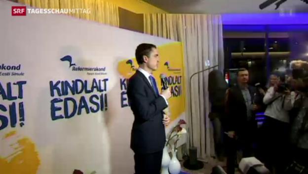 Video «Prowestliche Partei gewinnt Wahlen in Estland» abspielen