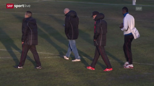 Video «Fussball: Le Mont - Basel abgesagt» abspielen