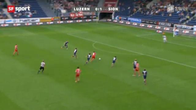 Serey Die trifft bei Sions 3:0 in Luzern.