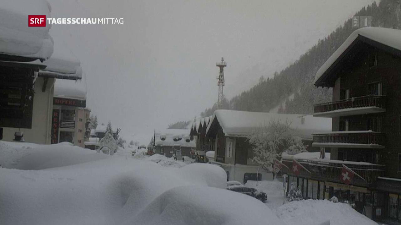 Gewaltige Schneemassen in den Alpen