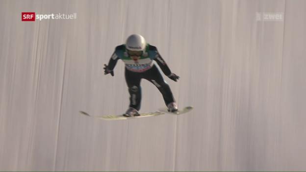 Video «Ammann scheitert im 1. Springen» abspielen