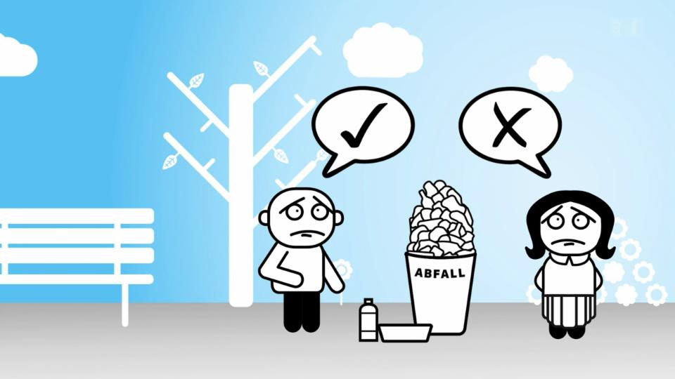 Darf man Müll neben dem Abfallkübel deponieren?