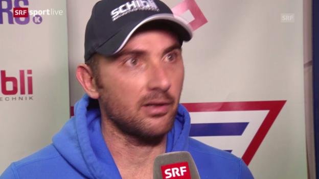 Video «Eishockey: Interview mit Martin Gerber («sportlive», 11.03.14)» abspielen