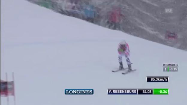 Video «Ski Alpin: Super G von Viktoria Rebensburg in Cortina («sportlive»)» abspielen
