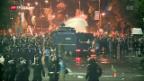 Video «Heftige Proteste in Rumänien» abspielen