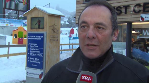 Video «Rennleiter Lehmann zum Zustand der Lauberhorn-Piste» abspielen
