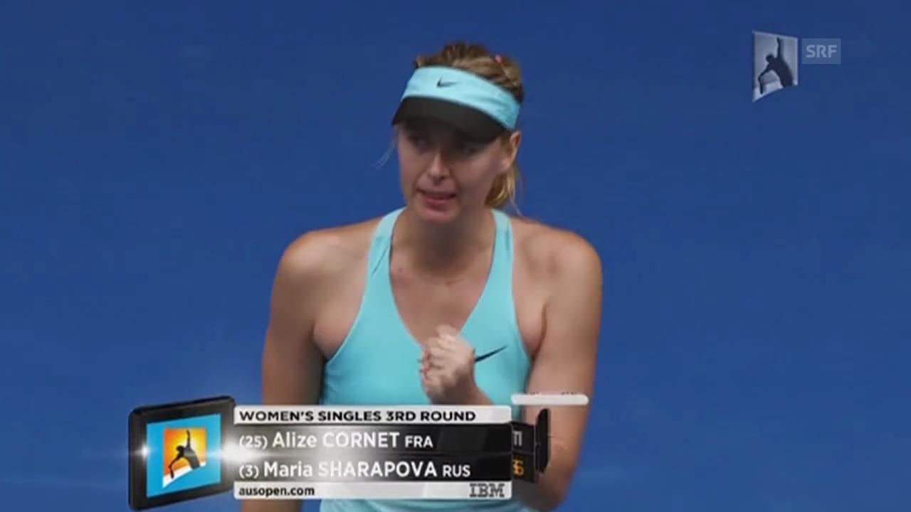 Tennis: Australian Open, 3. Runde, Scharapowa - Cornet