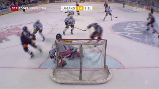 Video «Lugano schlägt harmloses Biel» abspielen