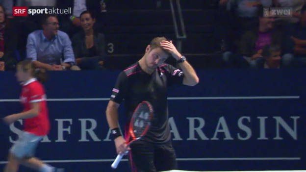 Video «Tennis: Swiss Indoors, Wawrinka - Karlovic» abspielen