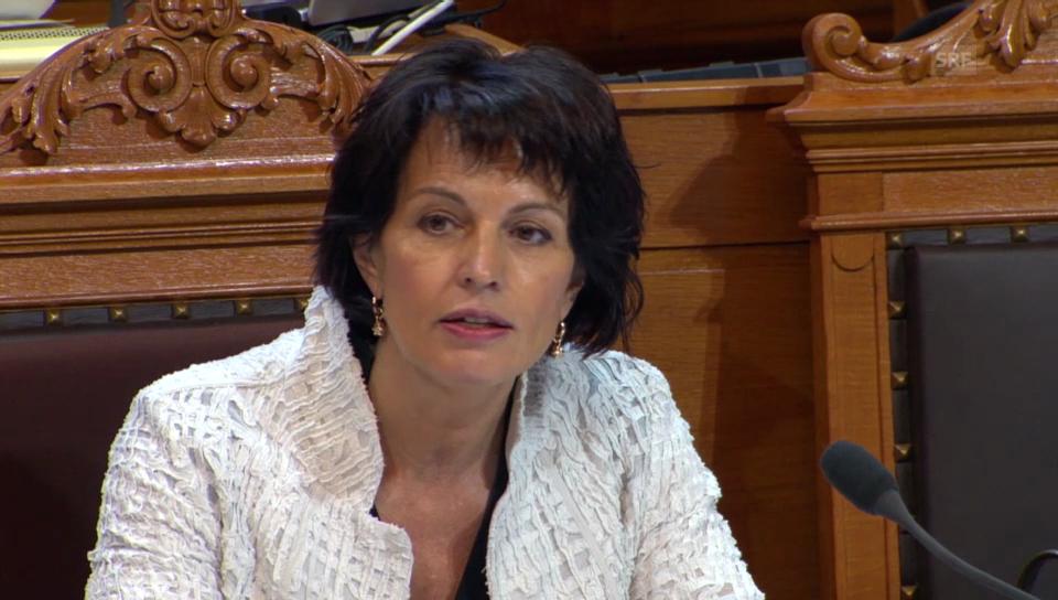 Doris Leuthard erinnert an den Zusammenhalt des Landes