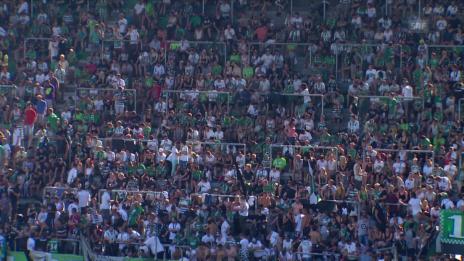Video «Fussball: Super-League, St. Gallen-Lugano, Pauseninterview Bunjaku» abspielen
