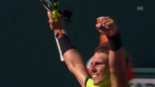 Link öffnet eine Lightbox. Video Nadals grosse Erleichterung nach dem Viertelfinal-Vorstoss (SNTV) abspielen