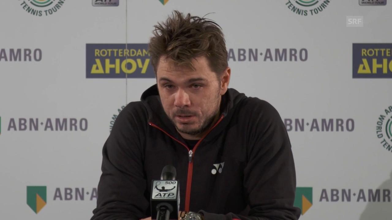 Wawrinka: «Er spielte besser als ich» (engl.)