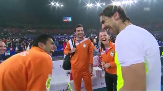 Video «Nadal: «Tomic? Close the bars!»» abspielen