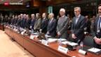 Video «EU beschwört gemeinsamen Kampf gegen den Terrorismus» abspielen