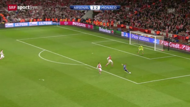 Video «Fussball: Champions League, Achtelfinal, Arsenal – Monaco» abspielen