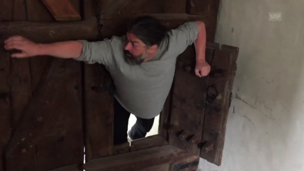 Video «Weshalb der Erste immer durchs Katzentürli muss» abspielen