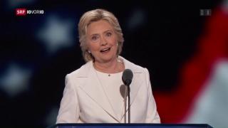 Video «Wie kann Hillary den Rivalen Trump schlagen? » abspielen