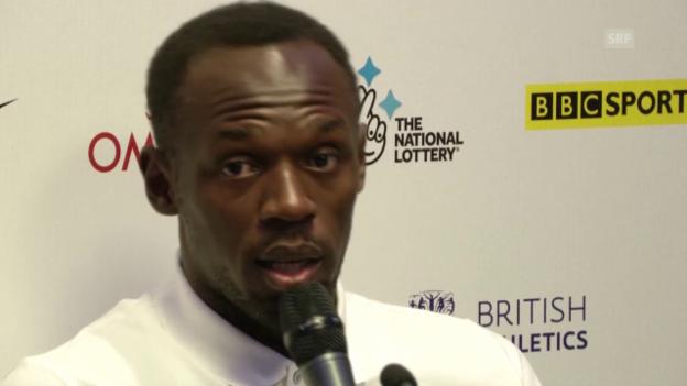 Video «LA: Usain Bolt vor dem Meeting in London (Englisch, Quelle: SNTV)» abspielen