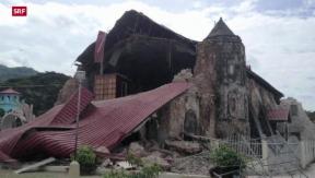 Video «Ein schweres Erdbeben erschüttert die Philippinen» abspielen