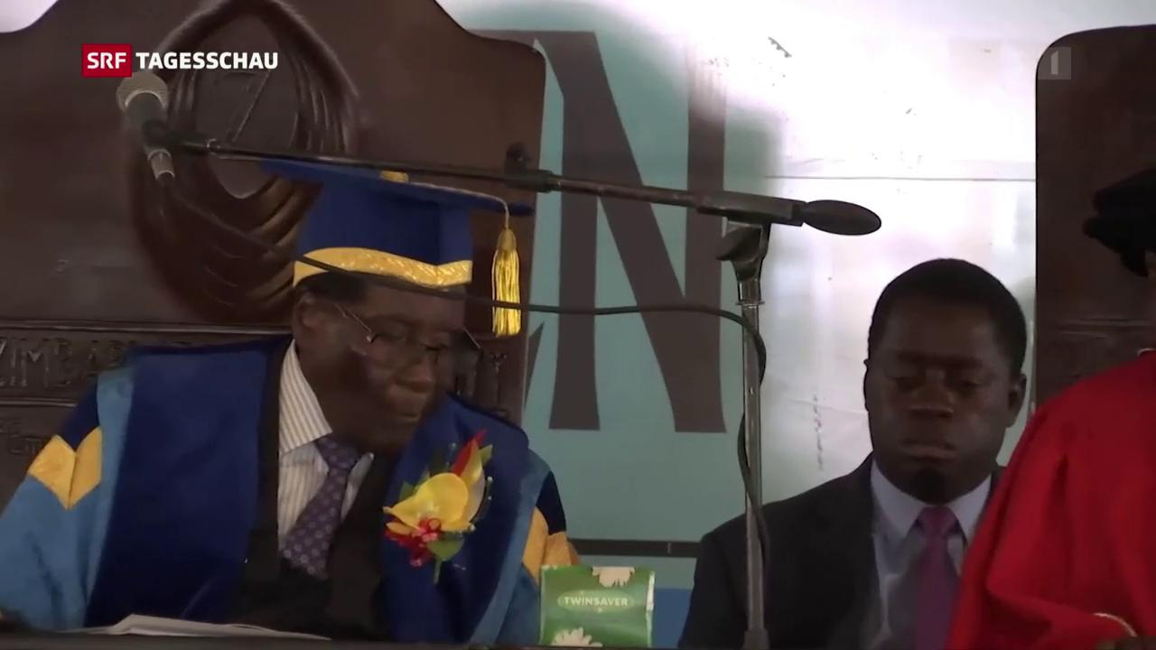 Erster öffentlicher Auftritt Mugabe