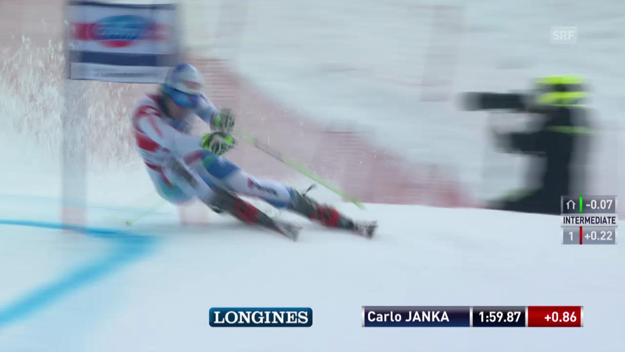 Ski: Riesenslalom Lenzerheide, Die Fahrt von Carlo Janka («sportlive», 15.03.2014)